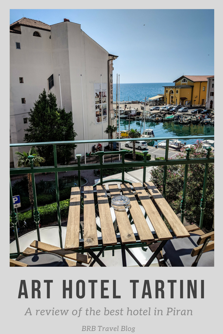 Art Hotel Tartini, a review of the best hotel in Piran. The boutique hotel is a design masterpiece. After staying 2 nights, I reviewed, the hotel's amenities such as the rooms, the Devil's trill bar and its breakfast buffet. #Slovenia #Piran #hotelreview #seasideview #travel #europe