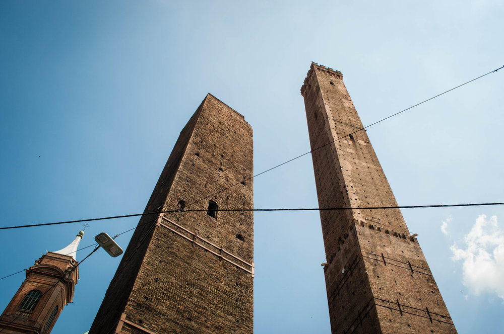 the Asinelli Tower, part of the Bologna Itinerary