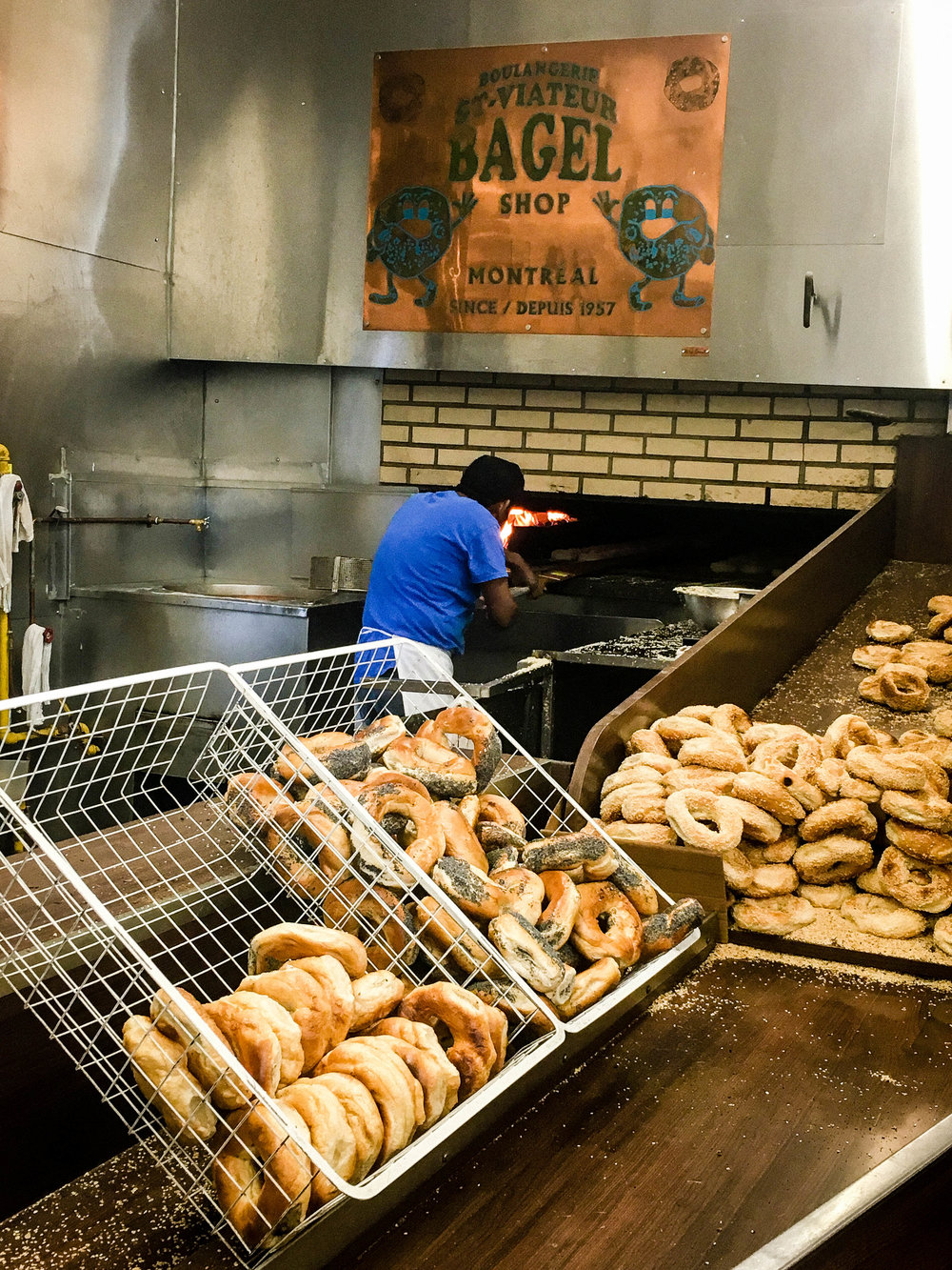 Bagels famous food in Montreal. 10 must-eat food in Montreal