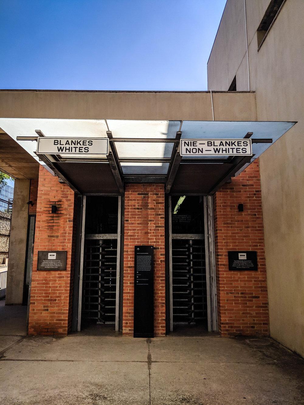 Apartheid museum. Johannesburg Itinerary