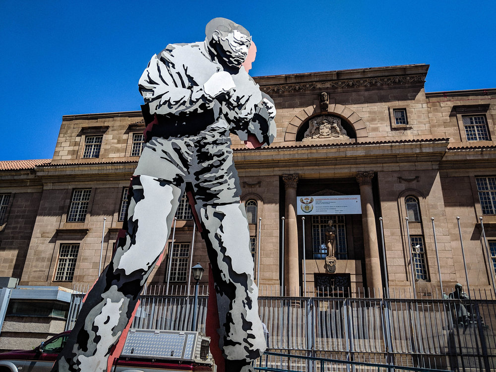 Sculpture of Nelson Mandela. Johannesburg Itinerary