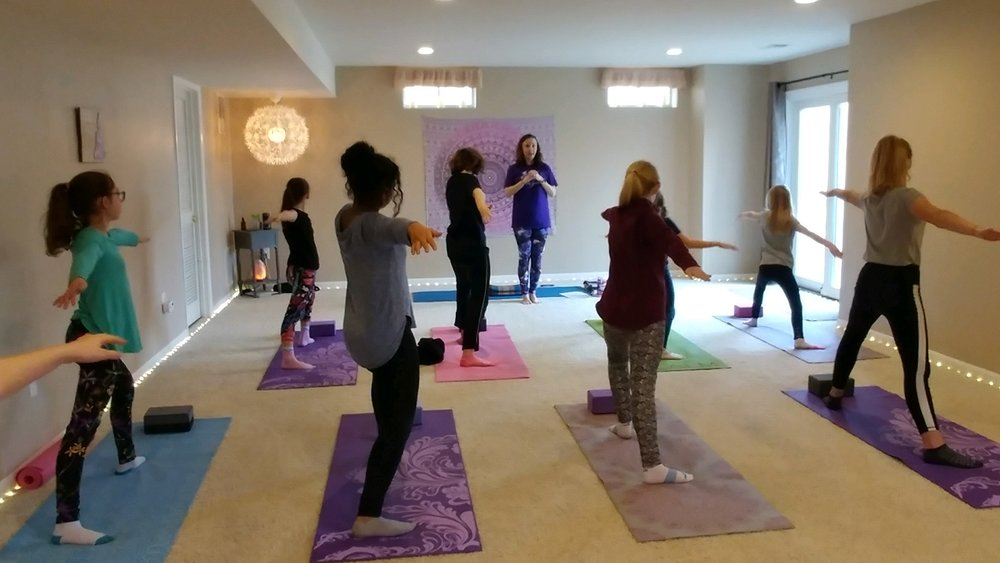 Yoga for Students - Including yoga for Girl Scouts and other special events for ages 10 and up. Contact me at breathewithjennie@gmail.com for pricing and availability.