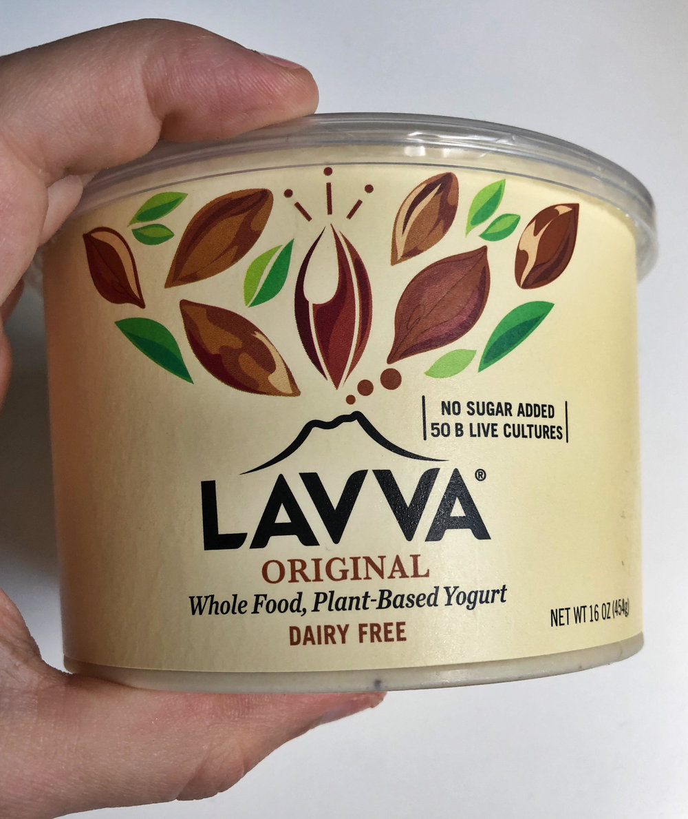 Rating 4/10 - Better as a sour cream sub than as yogurt.$1.99 per serving170 Calories2g protein7g sugar13g fatMain ingredients - coconut, plantain, pilinutes