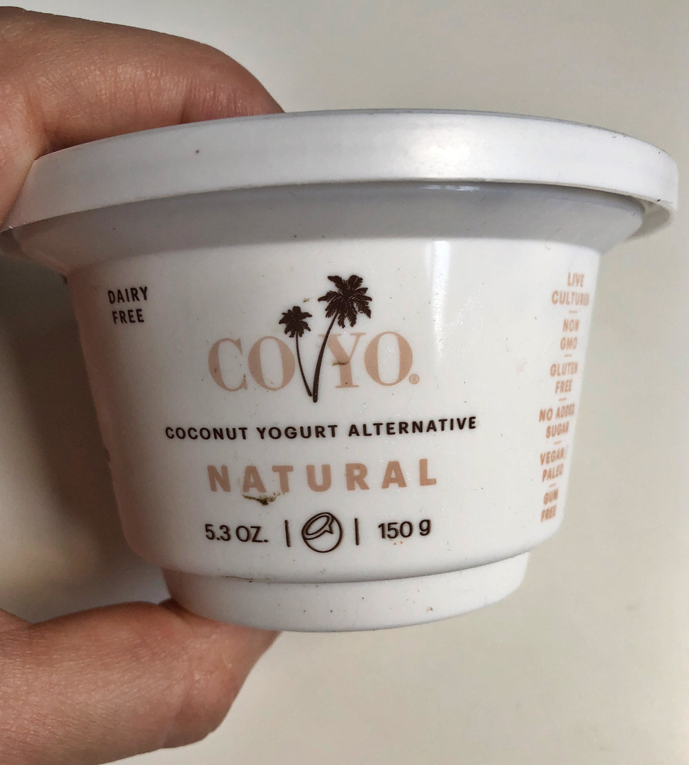 Rating 9/10 - My favorite and OF COURSE most expensive and hardest to find. Thick, tangy and rich.$3.79 Per container (multiple servings even though its small)Made primarily from coconut cream.390 Cal38g Fat5g Fiber3g Protein5g of Sufar