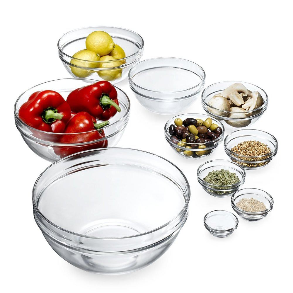 Stackable Glass Bowls -