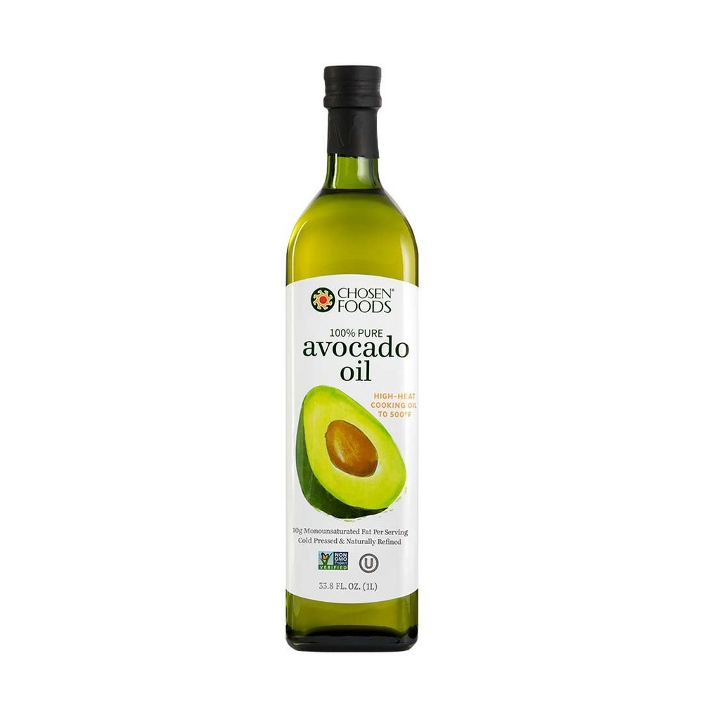Avocado Oil - One of my cooking essentials. Perfect for high heat.
