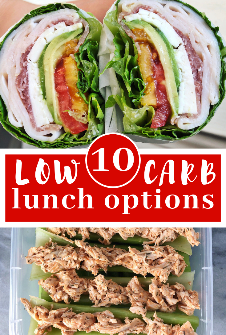 10 low carb lunch options that are perfect for a keto or paleo work lunch. Use this list to make some additions to your low carb meal prep for the week.