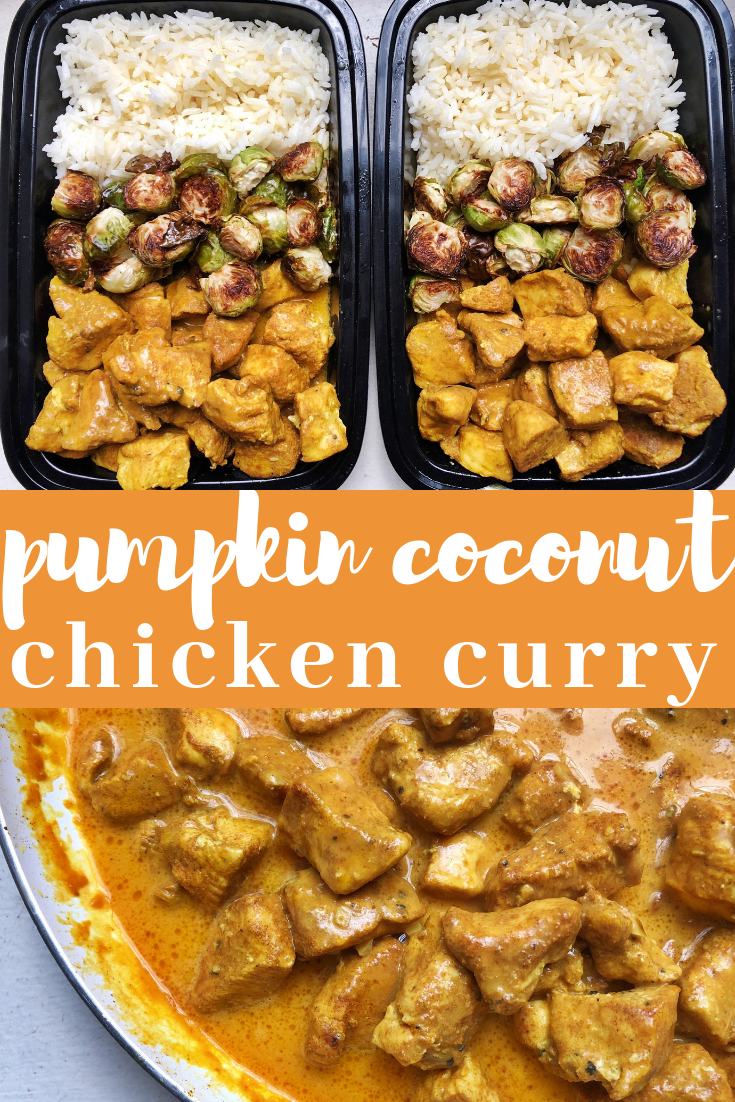Pumpkin coconut chicken curry is the perfect way to use up some of that extra canned pumpkin lying around for a savory, comforting fall dish.