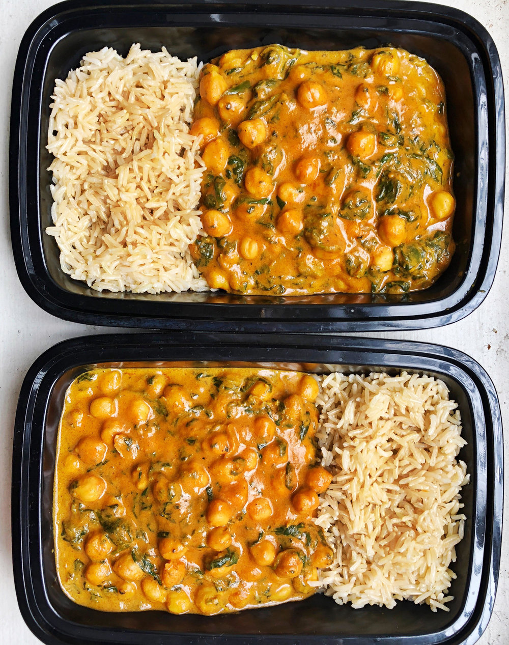The creamy, budget friendly chickpea curry is so delicious and satisfying that you will never guess that it only costs less than $2 per serving to make. This delicious curry is made with simple ingredients.