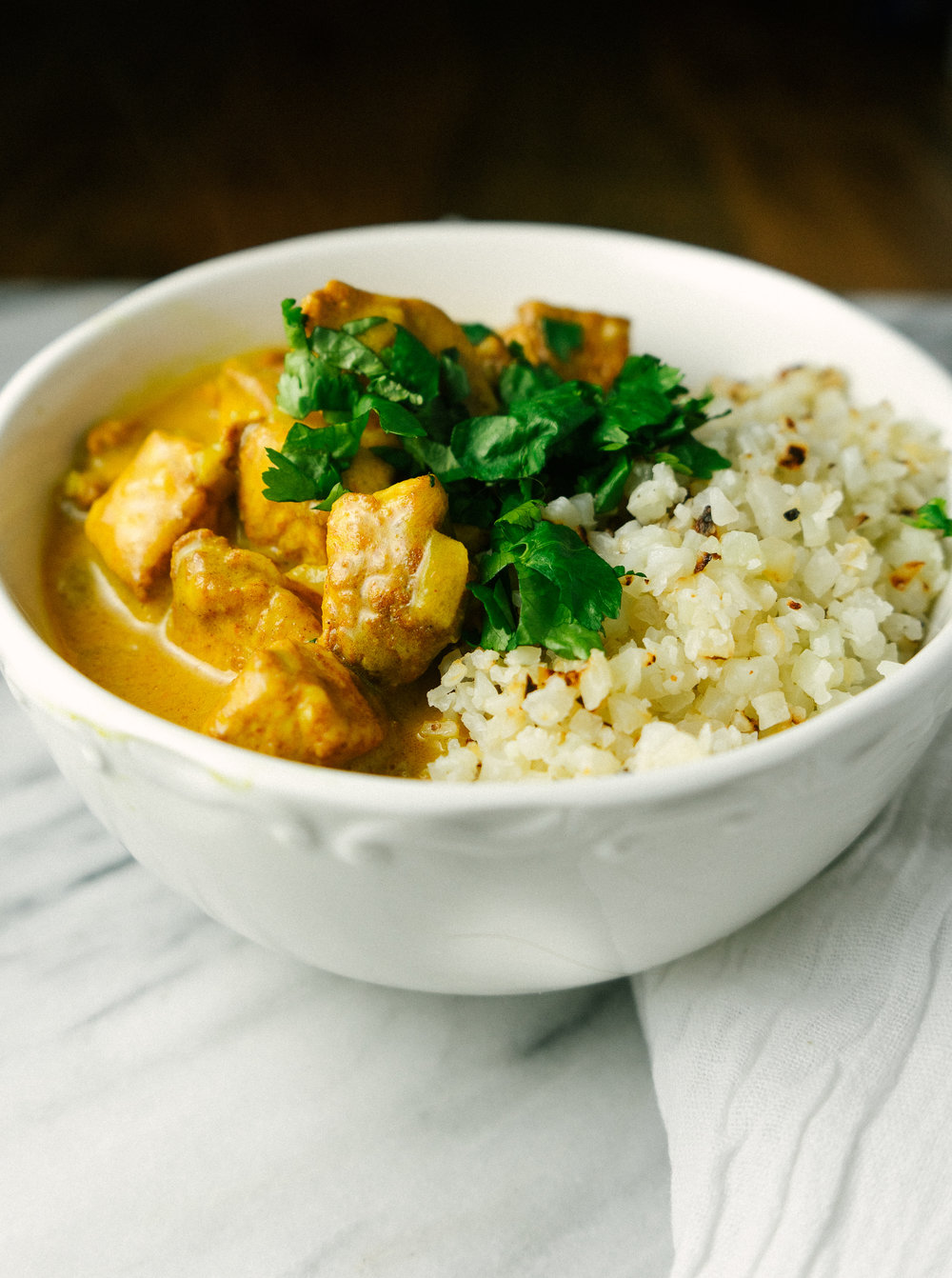 Whole30 Butter Chicken is a simple and quick one pan meal that makes a satisfying whole30 dinner or a delicious meal prep option.