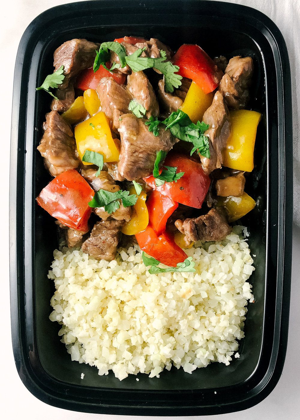 Sour cherry beef and bell peppers is a whole30 or paleo one pan meal that comes together in less than 30 minutes and will satisfy the whole family.