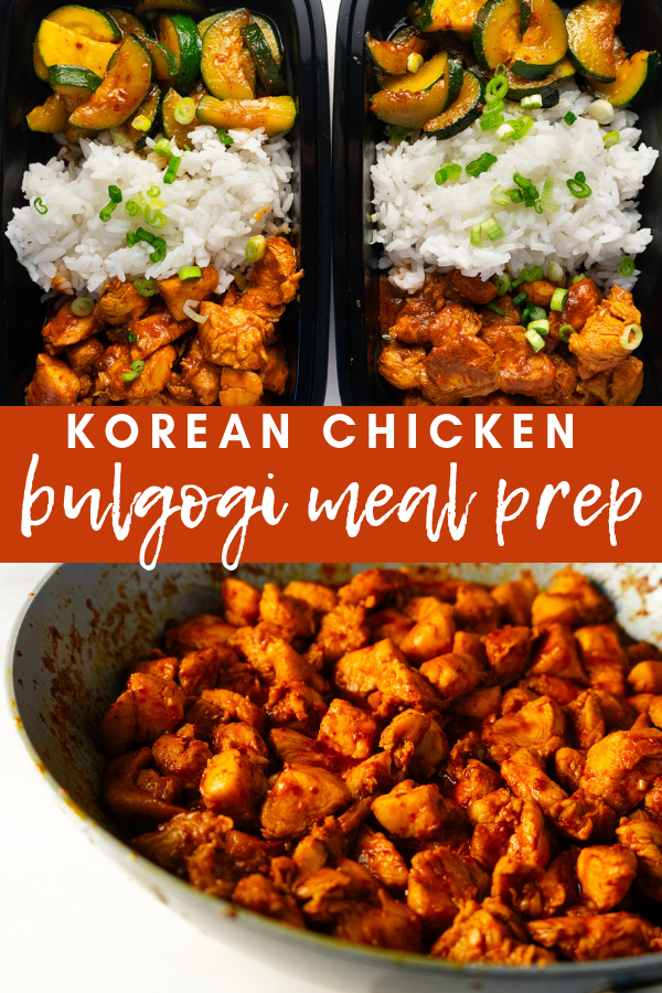Korean chicken bulgogi meal prep brings all of the flavor of Korean BBQ takeout into your home. This comforting meal comes together in less than 30 minutes and is the perfect thing to meal prep for dinner and lunch the next day!