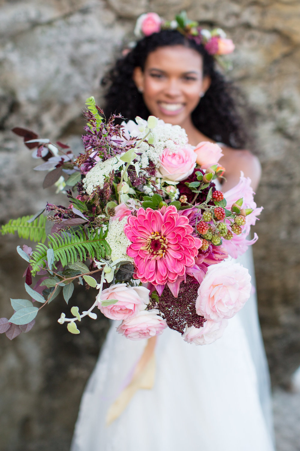organic seasonal bride bouquet