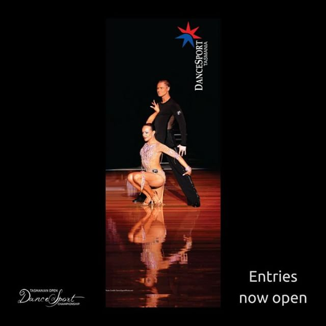 "Entries now open!  Join us at the 2018 Tasmanian Open DanceSport Championship in Launceston on Saturday the 11th of August.  Along with all the usual events we're excited to announce the introduction of Teacher Rec and PRO/AM events.  Experience performing in front of an audience that isn't just live, but is truly ""alive"". Enter online at: https://www.tasopen.org/online-entry Entries close early July.  #TasOpenDance #ballroom #dancesport (Photo credit: dancesportphoto.net)"