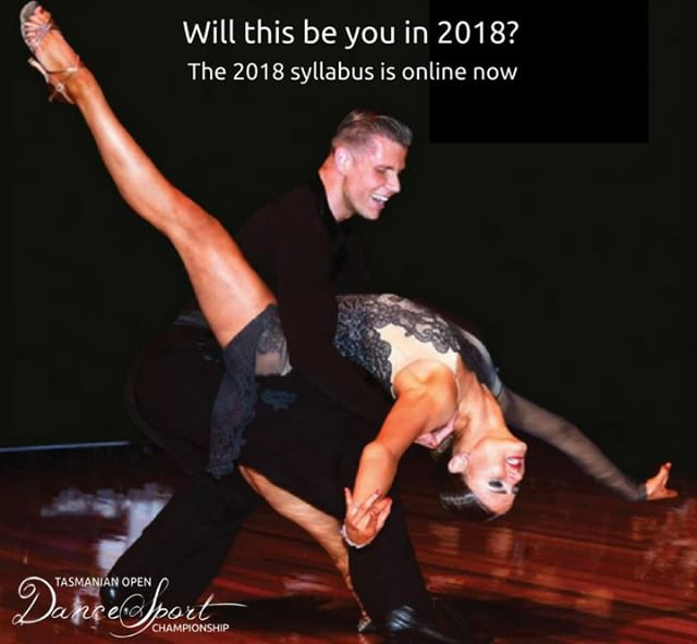 Along with all our regular events, in 2018 we're introducing two new events to the Tas Open DanceSport Championship - PRO/AM and Teacher Rec events.  Interested in entering?  Check out the syllabus and submit your entry online tasopen.org/syllabus  #TasOpenDance  Photo Credit: DanceSportPhoto.net