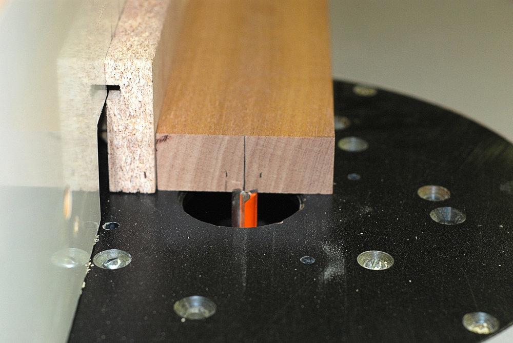 setting up router for truss rod slot.JPG
