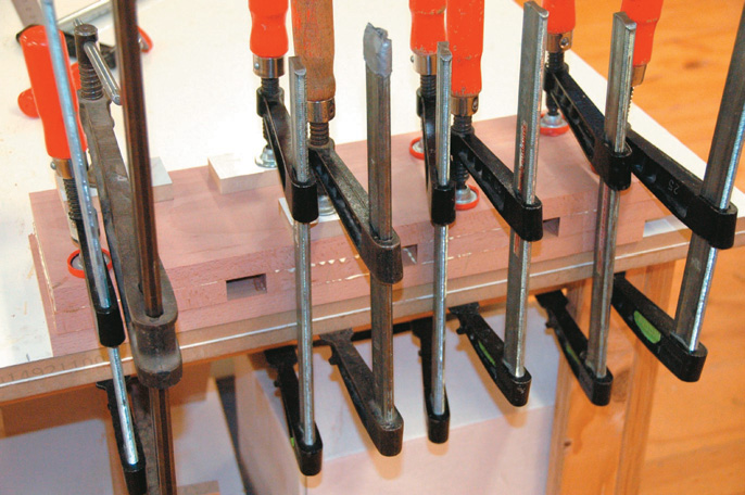Dog run glue-up