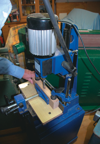 Using an inexpensive Chinese mortising machine