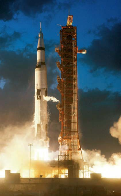 Saturn V rocket was 111 metres tall compared to Electron's 18 metres.