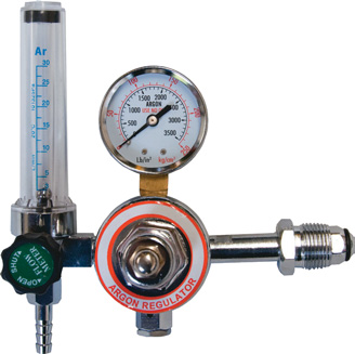 Argon regulator and flow meter