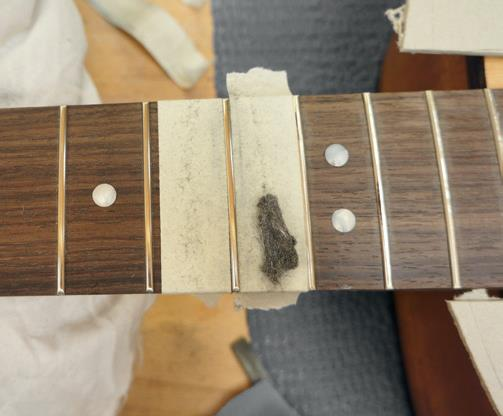 Fret polishing