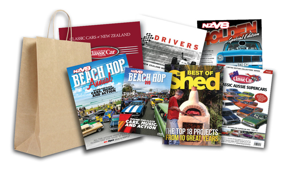Our first prize pack is this collection of car books and special editions, plus a Best Of The Shed