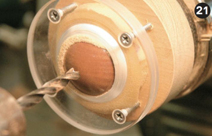Drill clock body hole