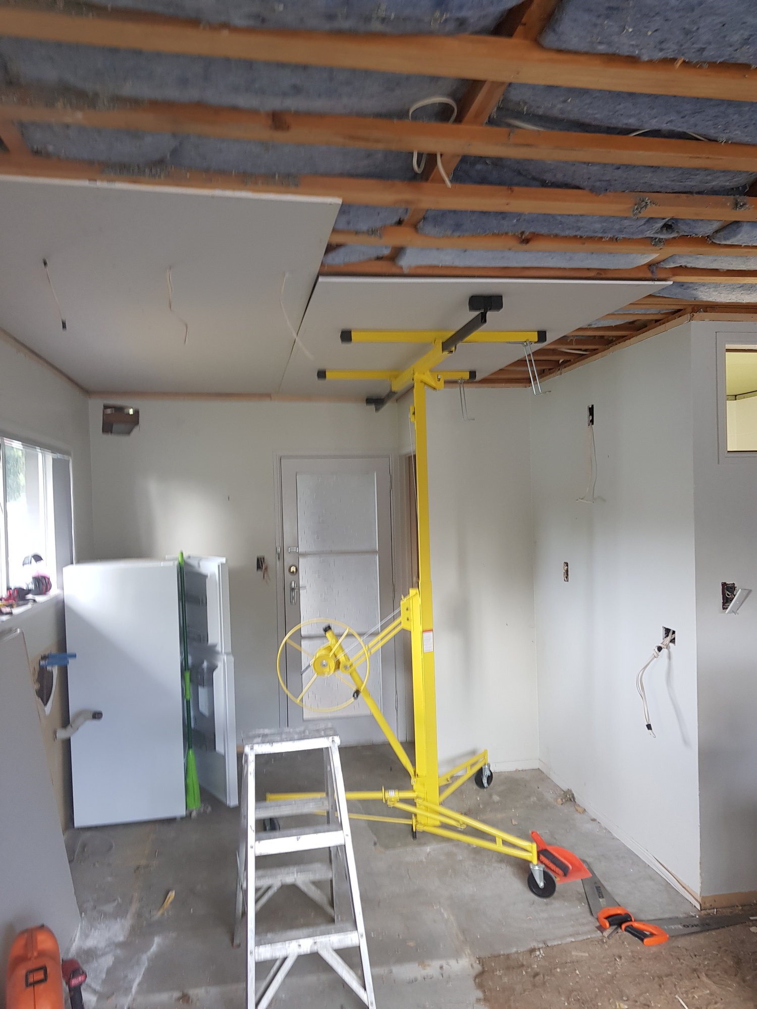 Installing A Kitchen The Shed Out How To Hide Wires Between Ceiling And Fixture Itself