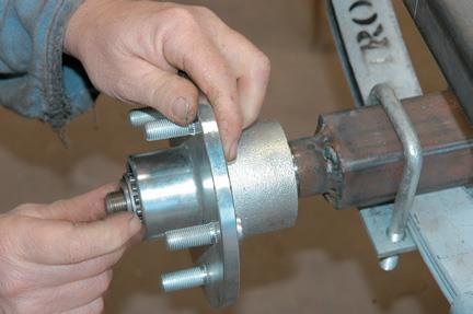 Put together axle assembly.