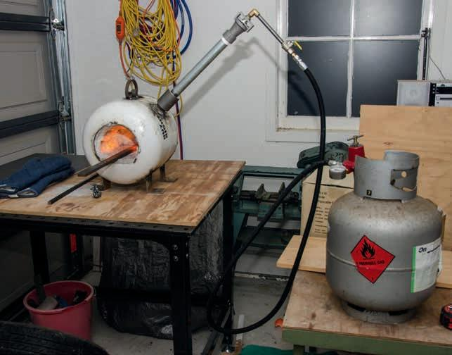 The forge set up.