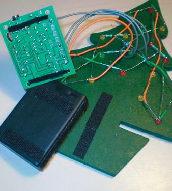 Velcro strips attachment