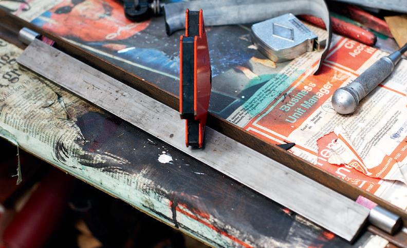 The anvil welding jig.