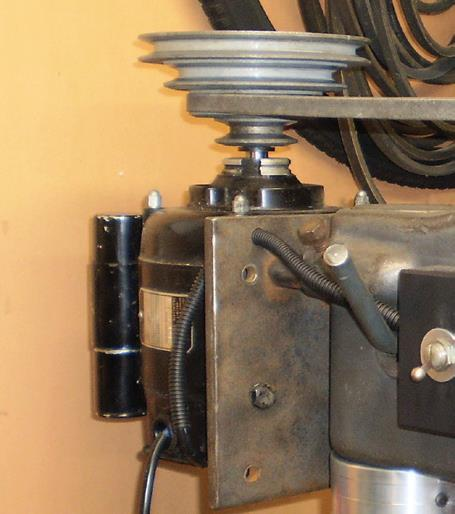 …for tidy 1/3 hp motor.