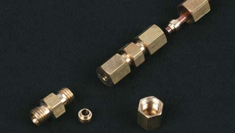 Steam outlet pipe uses union nut, nipple, olive and nut.