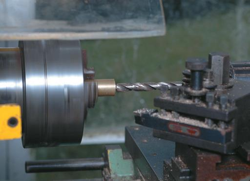 Centre drill out the cylinder.