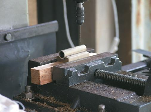 Drilling cylinder and saddle.