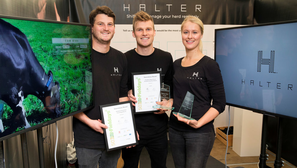 Vodafone Innovation Technology Award winners Halter with their technology that enables farmers to shift and monitor cows from anywhere