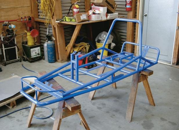 Completed framework prepped and painted.