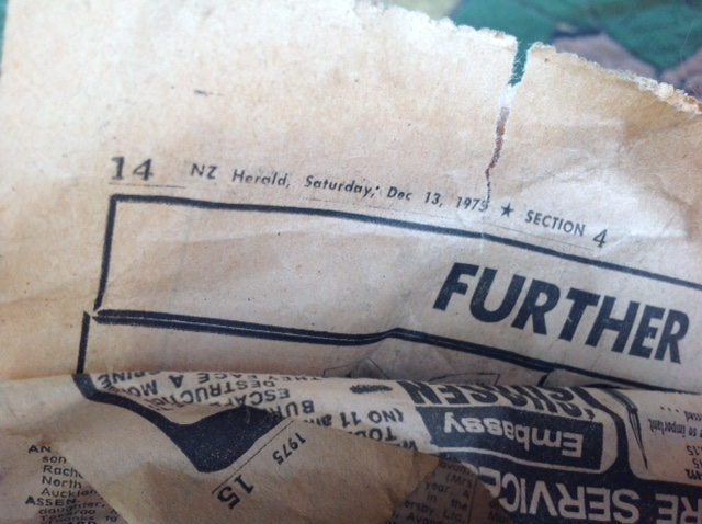The Herald newspaper all the parts were wrapped in was still in great condition.