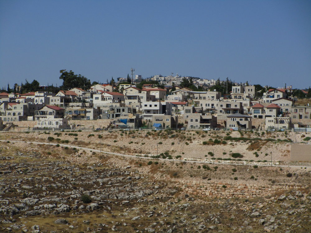 Tekoa settlement in the eastern Gush Etzion settlement bloc, occupied West Bank, July 2015
