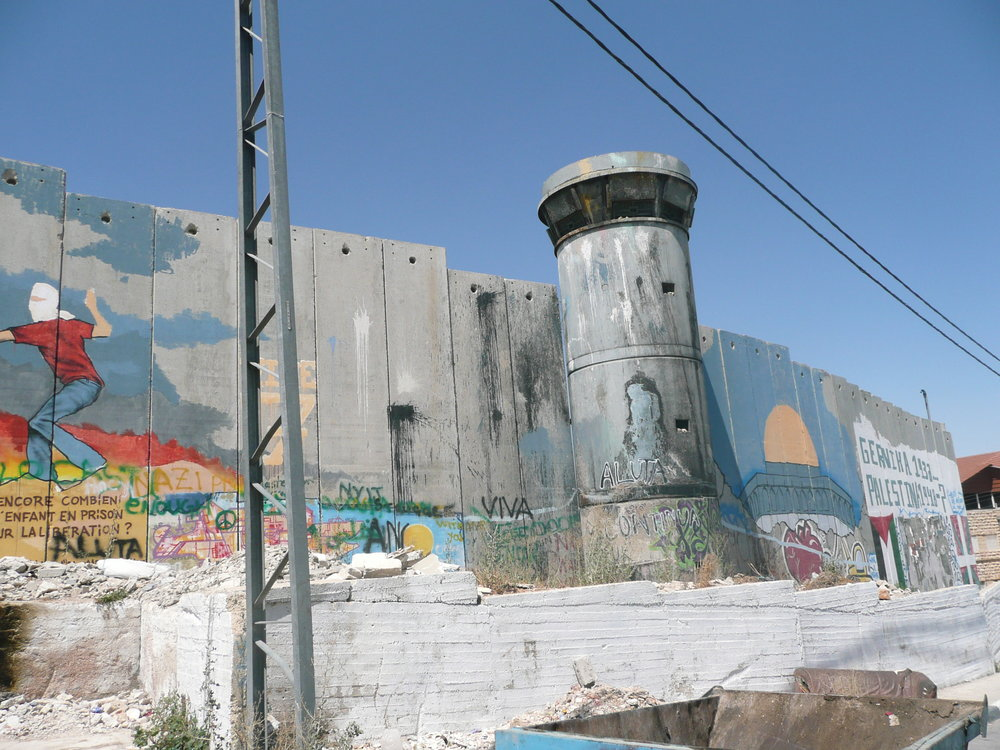 Separation barrier and watchtower in Bethlehem, July 2011