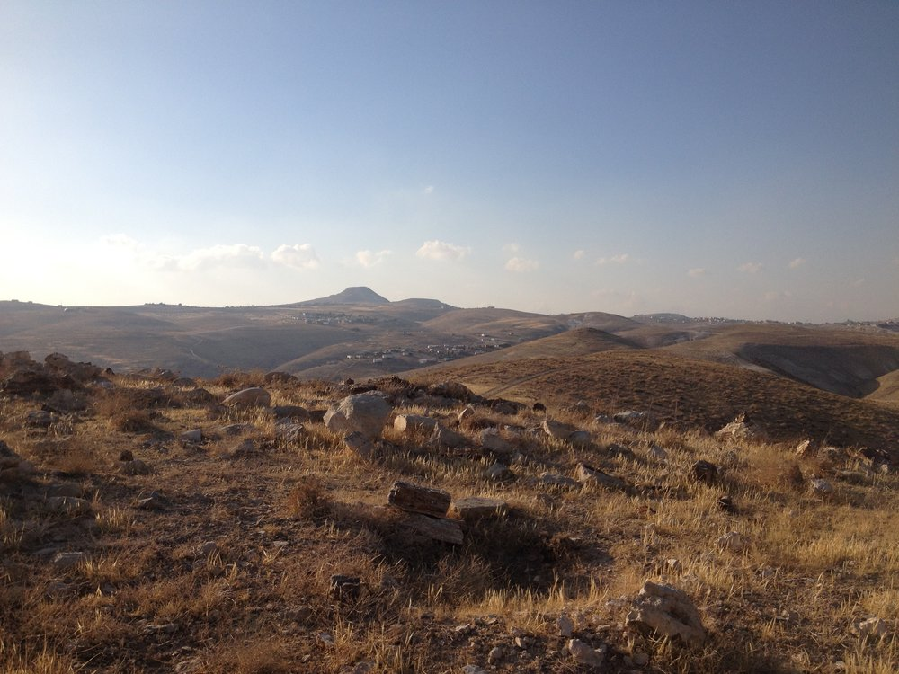 Mount Herodyon and settlements of eastern Gush Etzion, August 2014