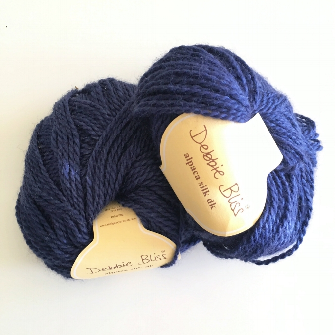 debbie bliss alpaca silk dk yarn in royal blue