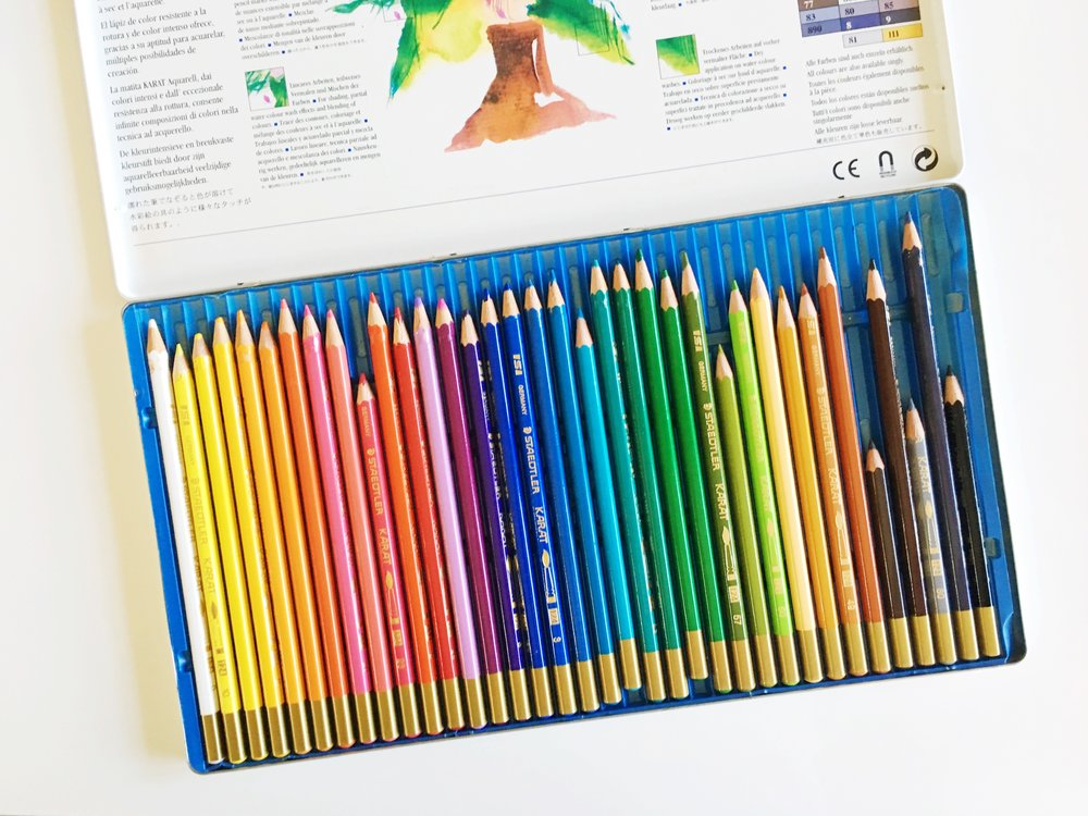 staedtler karat aquarell watercolor pencils