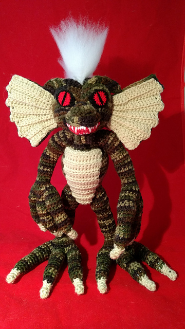 crochet gremlin by manic yarn