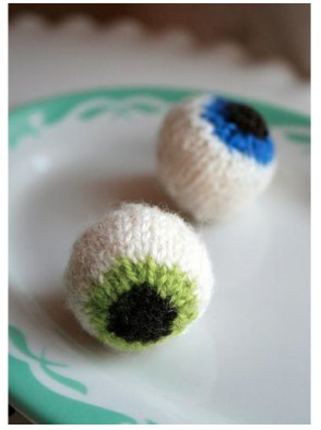knit eyeballs by mary jane m
