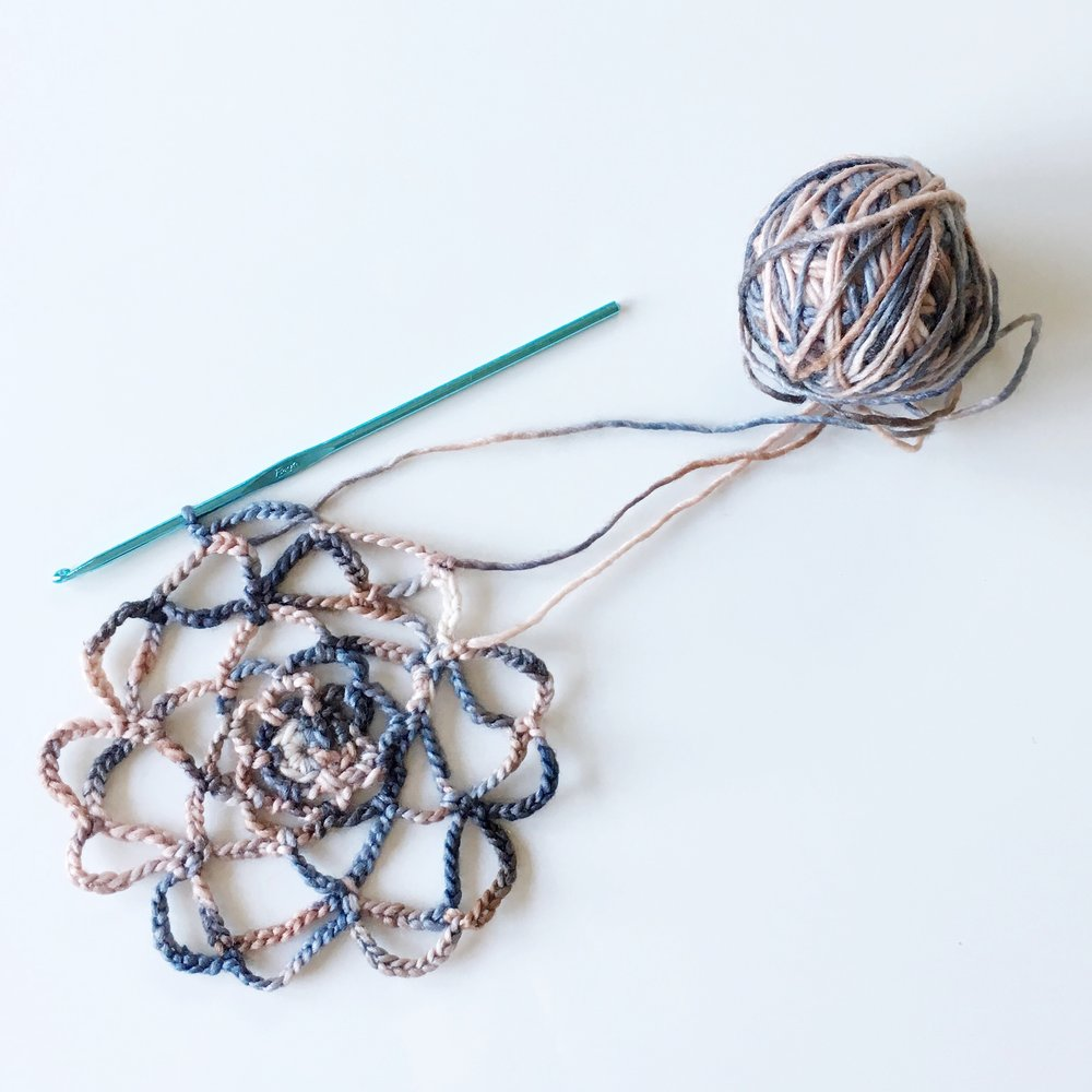 crocheted silk wool doily lace by elise lopez