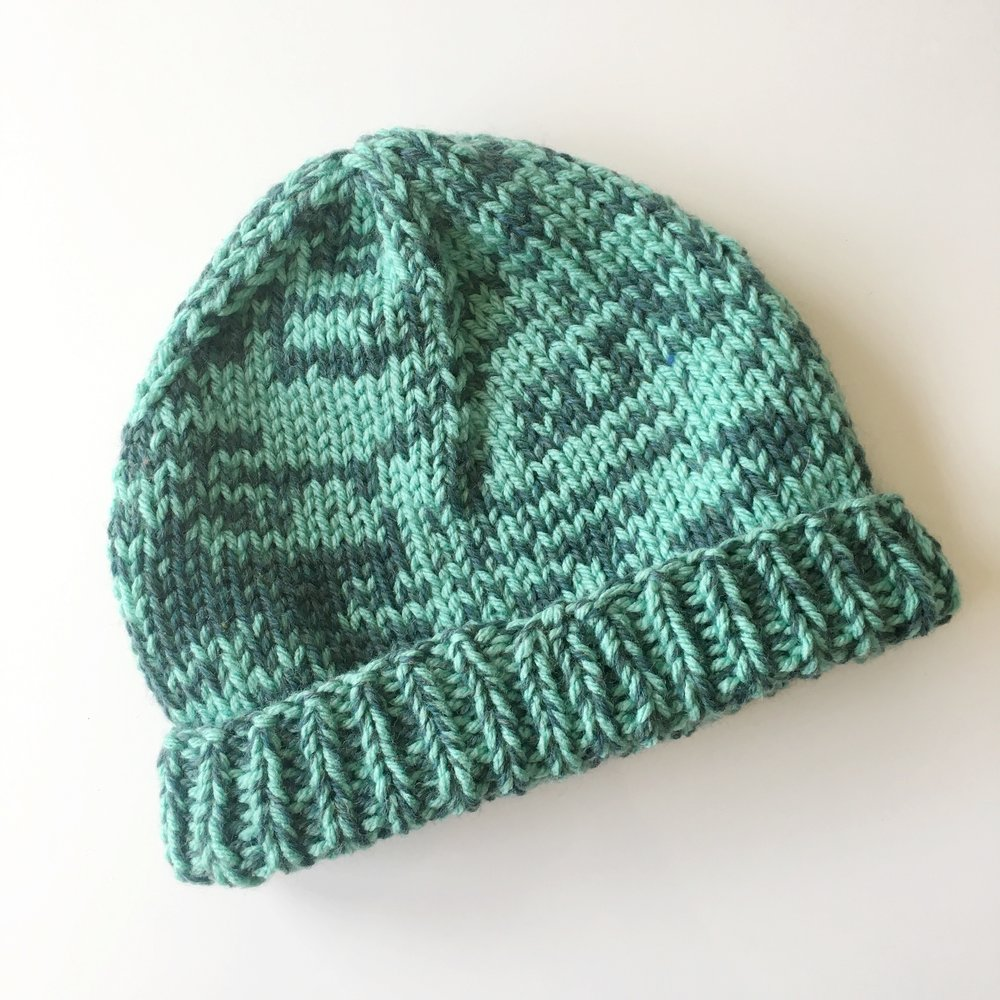 two tone aqua hat by elisemade