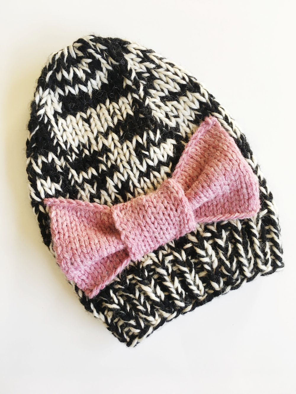 baby size in black/white with custom pink bow
