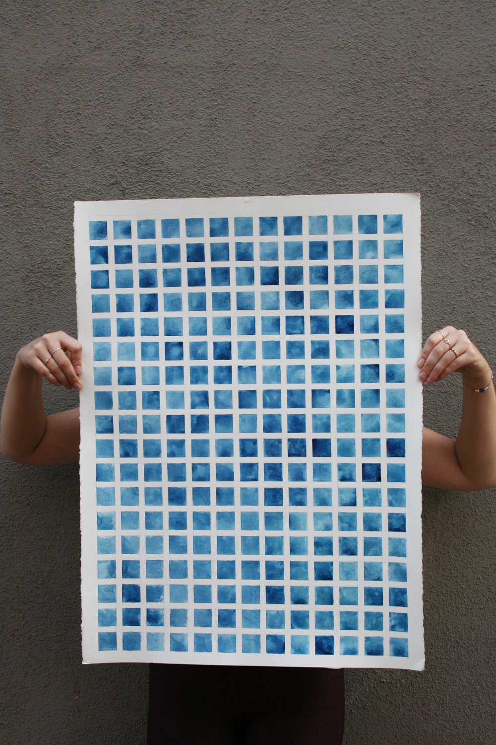 watercolor-geometric-squares-study-prussian-blue-controlled-explorations-elise-lopez